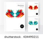 minimalistic white cover... | Shutterstock .eps vector #434490211
