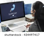 support service information... | Shutterstock . vector #434497417