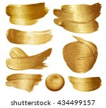 gold paint set on white... | Shutterstock .eps vector #434499157