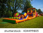 inflatable  colorful obstacle... | Shutterstock . vector #434499805