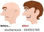 vector illustration of before... | Shutterstock .eps vector #434501785