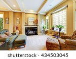 beautiful living room with... | Shutterstock . vector #434503045