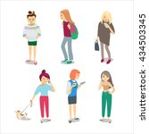 people on white background.... | Shutterstock .eps vector #434503345