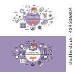 set of modern vector... | Shutterstock .eps vector #434506804