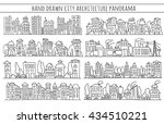sketch big city architecture... | Shutterstock . vector #434510221