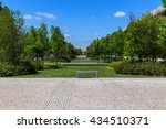 park area with plants for relax ... | Shutterstock . vector #434510371