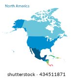 map of north america | Shutterstock .eps vector #434511871