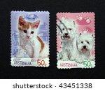 australia  circa 2004   cats... | Shutterstock . vector #43451338