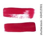 vector red strokes abstract... | Shutterstock .eps vector #434515501