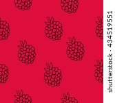 raspberry colorful seamless... | Shutterstock .eps vector #434519551