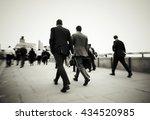 gentlemen on their way to work... | Shutterstock . vector #434520985