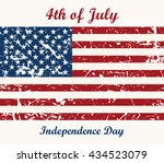 flag usa. 4th of july.... | Shutterstock .eps vector #434523079