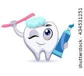 vector illustration of mascot... | Shutterstock .eps vector #434531251