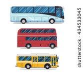 bus city transportation set....   Shutterstock .eps vector #434533045