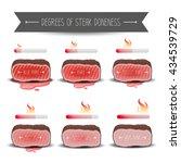 degrees of steak doneness set.... | Shutterstock .eps vector #434539729