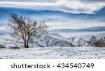mountain snow hokkaido | Shutterstock . vector #434540749