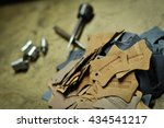 made in india leather embossing ... | Shutterstock . vector #434541217