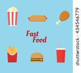 fast food icon and symbol with... | Shutterstock .eps vector #434546779