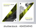 flyer cover design green.... | Shutterstock .eps vector #434554945