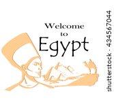 egypt.egyptian pyramids...   Shutterstock .eps vector #434567044