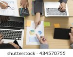 businessmen working with... | Shutterstock . vector #434570755