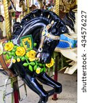 Close Up Of Carousel Horse ...