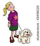 Stock vector cartoon vector illustration dog walker 43458220