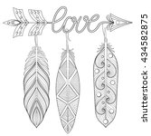 bohemian arrow  hand drawn...   Shutterstock .eps vector #434582875