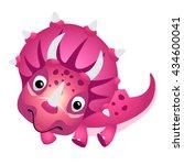 cartoon cute dinosaur. vector... | Shutterstock .eps vector #434600041