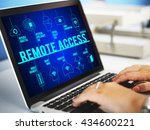 remote access connected drones... | Shutterstock . vector #434600221
