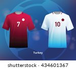 color soccer t shirts of turkey.... | Shutterstock .eps vector #434601367