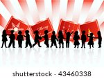illustration of greeting card... | Shutterstock .eps vector #43460338