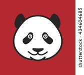 panda's head on a red...   Shutterstock .eps vector #434604685