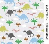 vector illustration. seamless... | Shutterstock .eps vector #434605345