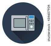 micro wave oven icon. flat... | Shutterstock .eps vector #434607934