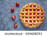 Homemade Strawberry Pie Tart...