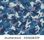 camouflage seamless pattern... | Shutterstock .eps vector #434608339