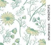 chamomile vector pattern | Shutterstock .eps vector #434609191