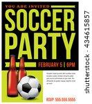 a soccer party flyer invitation ...   Shutterstock .eps vector #434615857