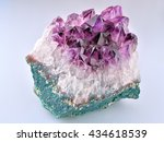 crystal stone macro mineral ...   Shutterstock . vector #434618539