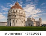 leaning tower of pisa  italy... | Shutterstock . vector #434619091