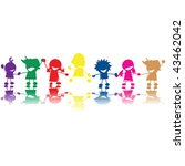 Silhouettes Of Children In...
