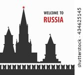 welcome to russia vector... | Shutterstock .eps vector #434625145