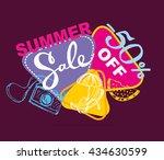 summer sale vector banner. ... | Shutterstock .eps vector #434630599