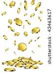gold coins | Shutterstock .eps vector #43463617