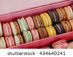 macarons in different colors... | Shutterstock . vector #434640241