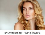 beautiful  tender  sexy blonde... | Shutterstock . vector #434640391