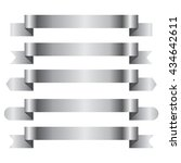 silver banner ribbon vector set ...   Shutterstock .eps vector #434642611