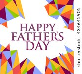 happy fathers day abstract sign ... | Shutterstock . vector #434645905
