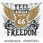 feel the freedom. route 66....   Shutterstock .eps vector #434647651